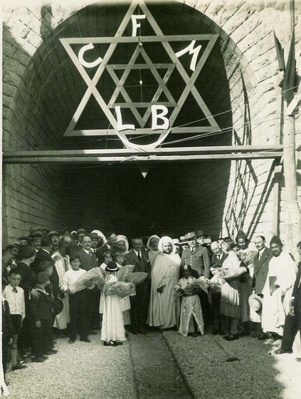 Fes_22_mars_1933_inauguration_tunnel_du_scorpion